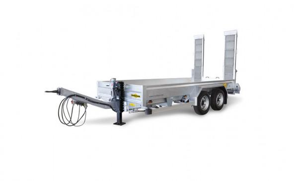 HS 106020 BS Baumaschinentransporter Bohlen stehend