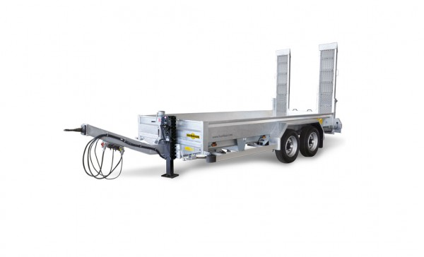 HS 105020 BS Baumaschinentransporter Bohlen stehend