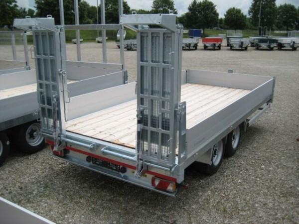 HBT 105224 BS Tandem-Hochlader Premium, Bohlen stehend - Ladefläche gerade