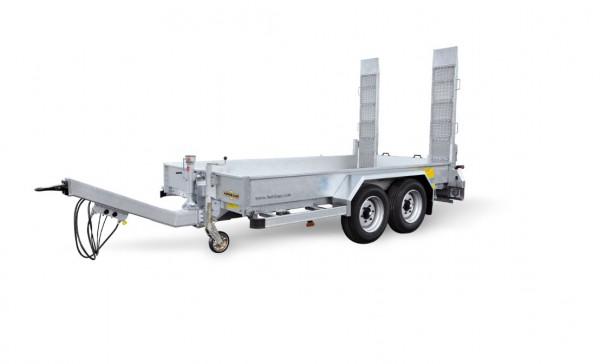HS 654520 BS Baumaschinentransporter Bohlen stehend