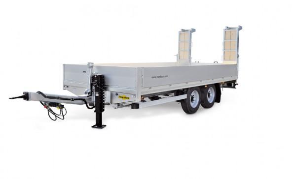 HBT 105224 BS Tandem-Hochlader Premium, Bohlen steh.-Ladefläche angeschrägt